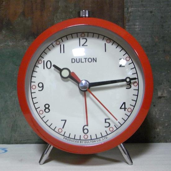 目覚まし時計 レッド DULTON ダルトン アメリカン雑貨の画像