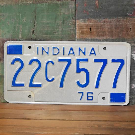 INDIANA アメリカン ユーズドナンバープレート インディアナ州 ブリキ看板画像