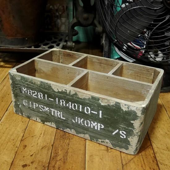 スウェーデン軍タイプ ストレージ ウッドボックス 収納木箱の画像