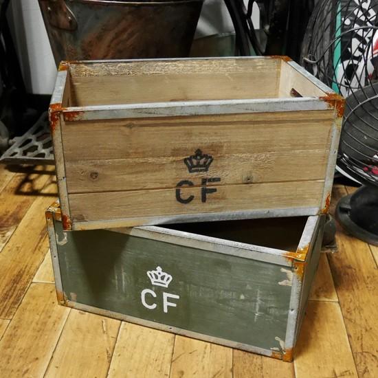 デンマーク軍タイプ ストレージ ウッドボックス 収納木箱 ミリタリーの画像