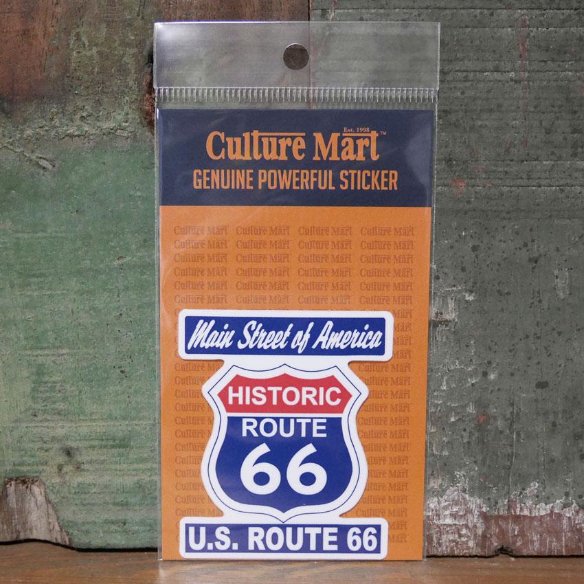 ルート66 ステッカー シール ROUTE66 SIGN STICKER アメリカン雑貨の画像