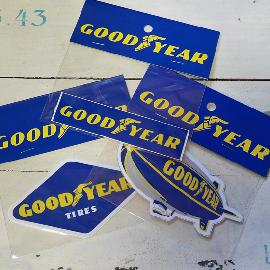グッドイヤー ステッカー Mサイズ GOOD YEAR STICKER シール アメリカン雑貨の画像