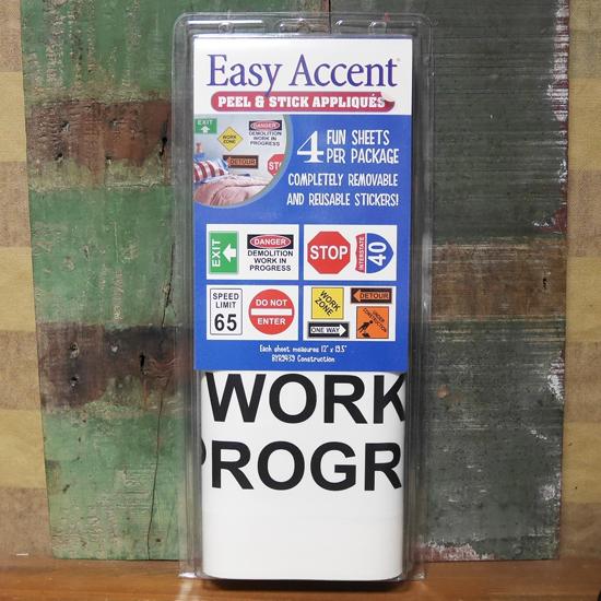 トラフィックサイン ステッカー ウォールデカール 4枚セット アメリカン雑貨の画像