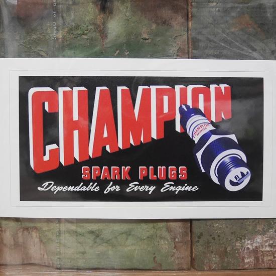 CHAMPION ステッカー チャンピオン シール アメリカン雑貨 アメリカンステッカーの画像