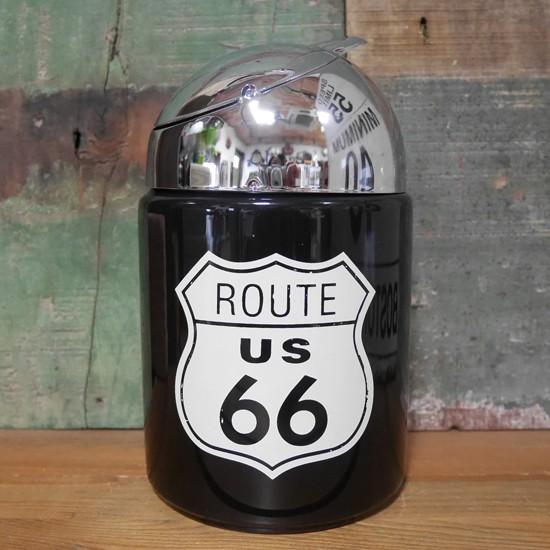 ルート66 卓上灰皿 ROUTE66 レトロドーム アッシュトレイ アメリカン雑貨画像