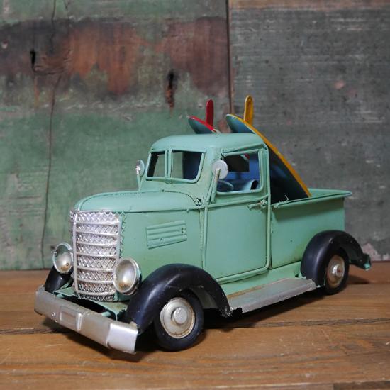 ブリキのおもちゃ サーフトラック 自動車 ヴィンテージミニカー アメリカン雑貨の画像