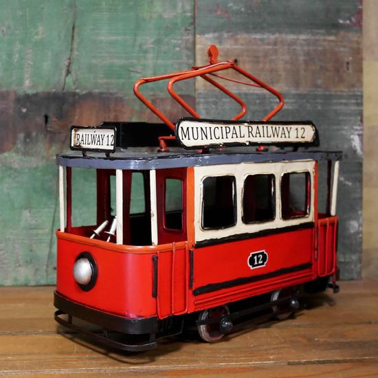 ケーブルカー ブリキのおもちゃ 鉄道 アンティーク インテリアの画像