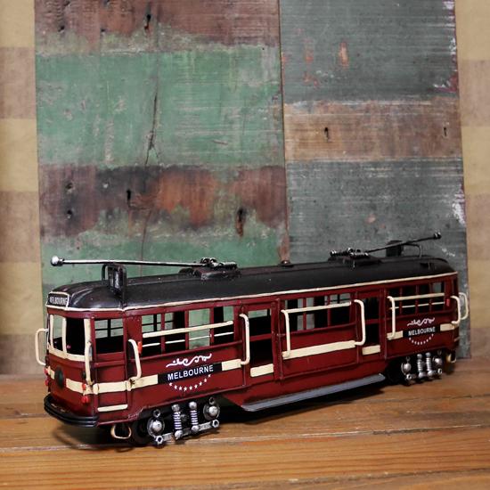 MELBOURNE トラム 路面電車 ブリキのおもちゃ 鉄道 アンティーク インテリアの画像