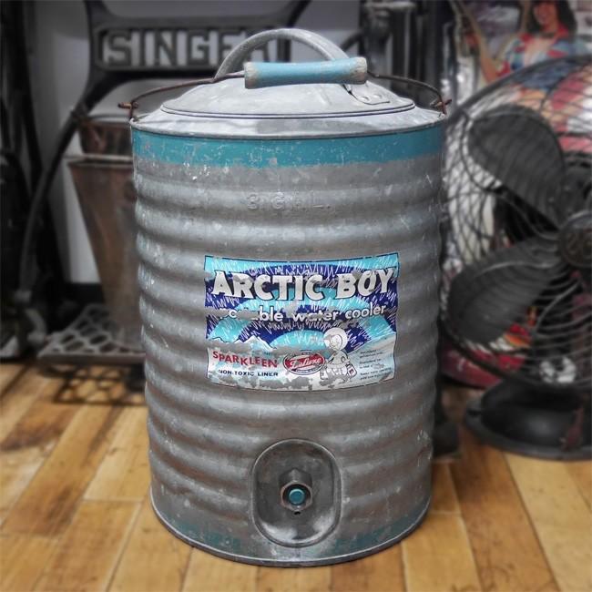 アンティーク ウォータージャグ ARCTIC BOY ビンテージ ウォータークーラー 3ガロン アメリカン雑貨の画像