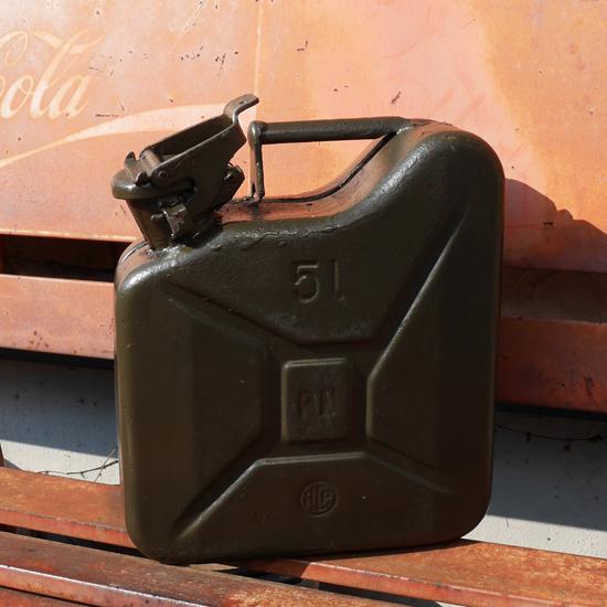 ポーランド軍 ガソリン缶 5L ミリタリー インテリア の画像