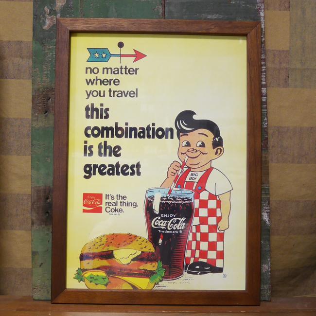 ビッグボーイ コカコーラ ハンバーガー インテリアピクチャー ポスター フレーム  インテリア額の画像