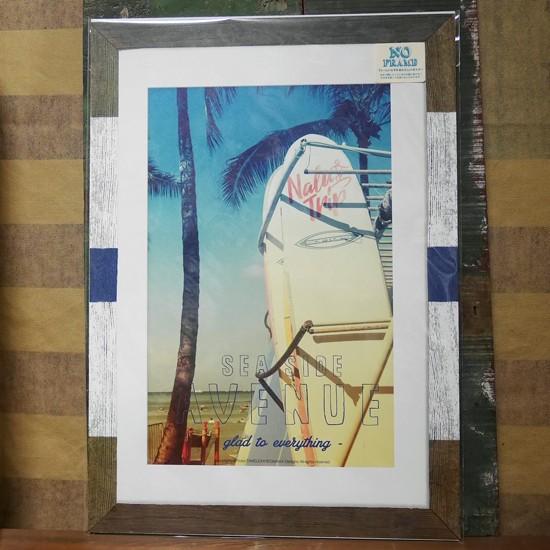オイルショックデザインズポスター【クリア デイ】 ハワイアンポスター ビーチポスターの画像