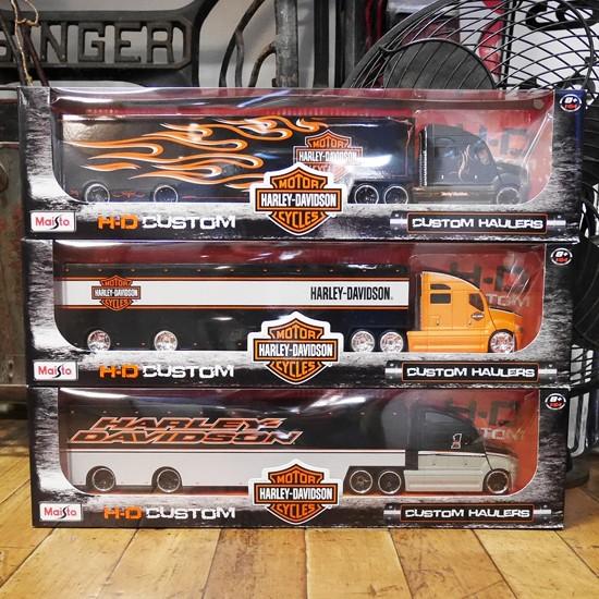 ハーレーダビッドソン トレーラー トラック インテリア 1/64  マイスト アメリカン雑貨の画像