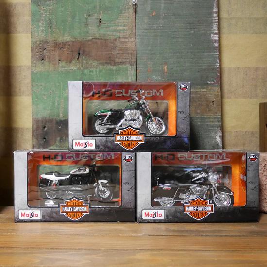 ハーレーダビッドソン バイク インテリア 1/18 Maisto オートバイレトロミニカー アメリカン雑貨画像