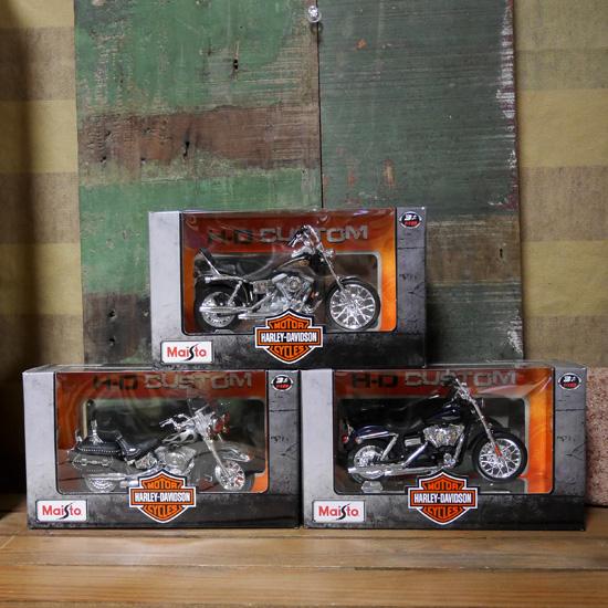 ハーレーダビッドソン バイク インテリア 1/18 Maisto オートバイレトロミニカー アメリカン雑貨の画像