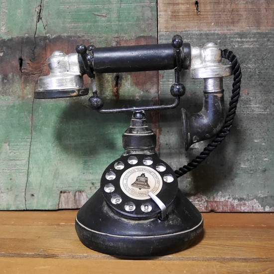 アンティーク電話機 レトロテレフォン インテリア オブジェ置物 レトロ雑貨の画像