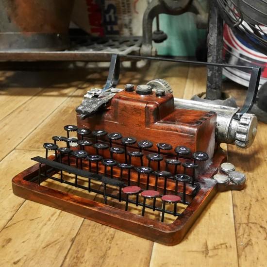 アンティークタイプライター インテリア オブジェ置物 レトロ雑貨画像