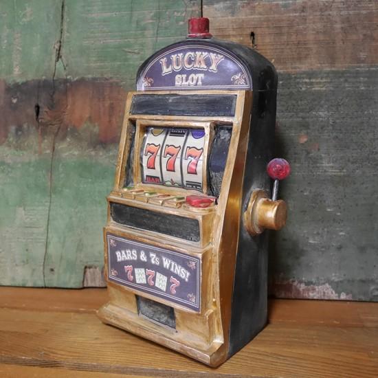 アンティークスロットマシーン インテリア スロットオブジェ置物 レトロ雑貨の画像