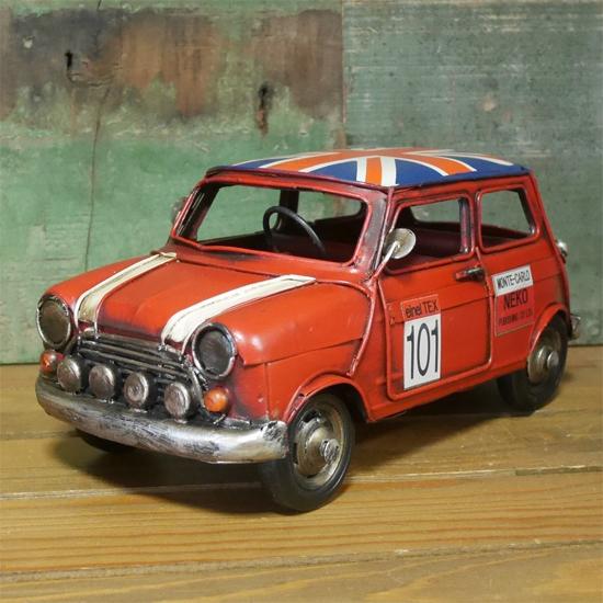 ミニクーパー ブリキのおもちゃ  インテリア自動車 アメリカン雑貨画像