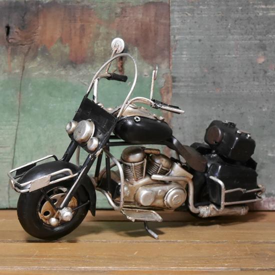 ブリキのおもちゃ ブリキ製オートバイ ガレージインテリア アメリカン雑貨の画像
