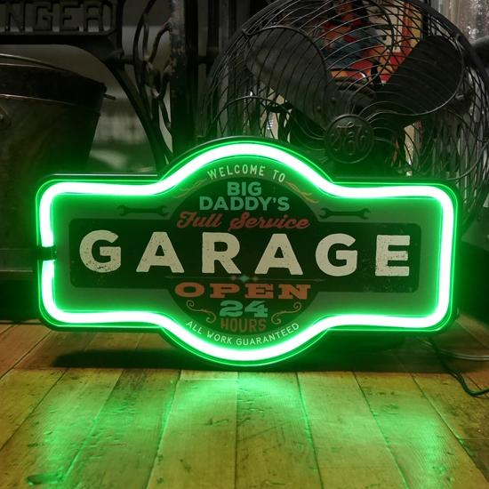 ガレージ LED ロープ ネオンサイン GARAGE アメリカンインテリア画像