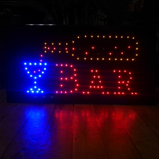 BAR LEDネオンサイン バーLEDインテリアボード アメリカン雑貨の画像