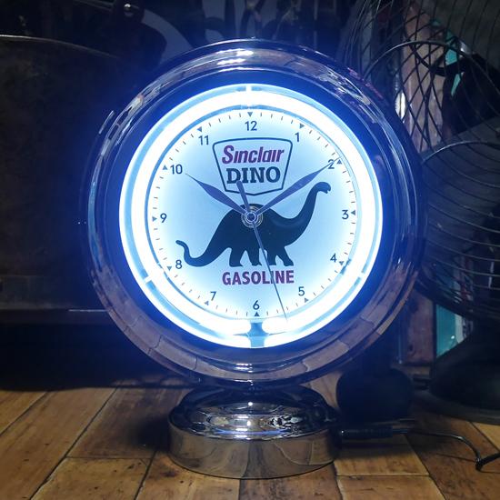 シンクレア ガスランプ ネオンクロック 置時計  アメリカン雑貨画像