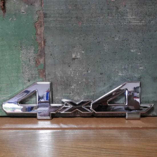 4WD スチール ステッカー 4×4 STICKER アメリカン雑貨の画像