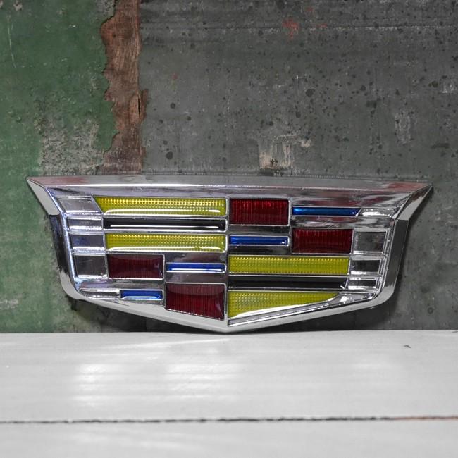 Cadillac スチール ステッカー キャデラック エンブレム STICKER アメリカン雑貨の画像