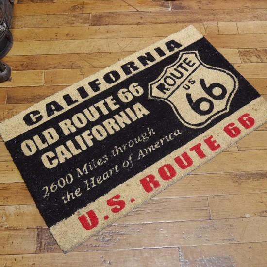 ルート66 コイヤーマット 玄関マット コイアマット アメリカン雑貨の画像