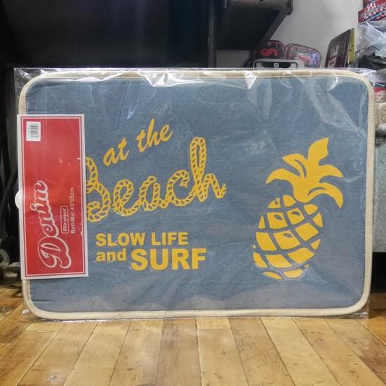 デニム インテリアマット ハワイアン キッチンマット Beach バスマット ネイビー  玄関マットの画像