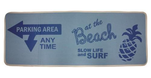 デニム ロングマット ハワイアン キッチンマット Beach バスマット ブルー 玄関マットの画像