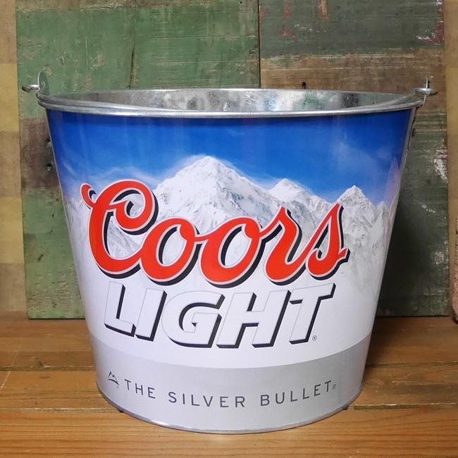 ブリキバケツ Coors LIGHT ティンバケツ ワインクーラー クアーズ アメリカン雑貨の画像