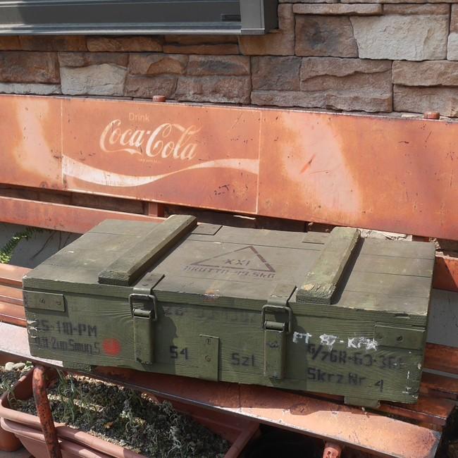 ポーランド軍 アンモボックス ミリタリー 弾薬箱 収納ボックスの画像