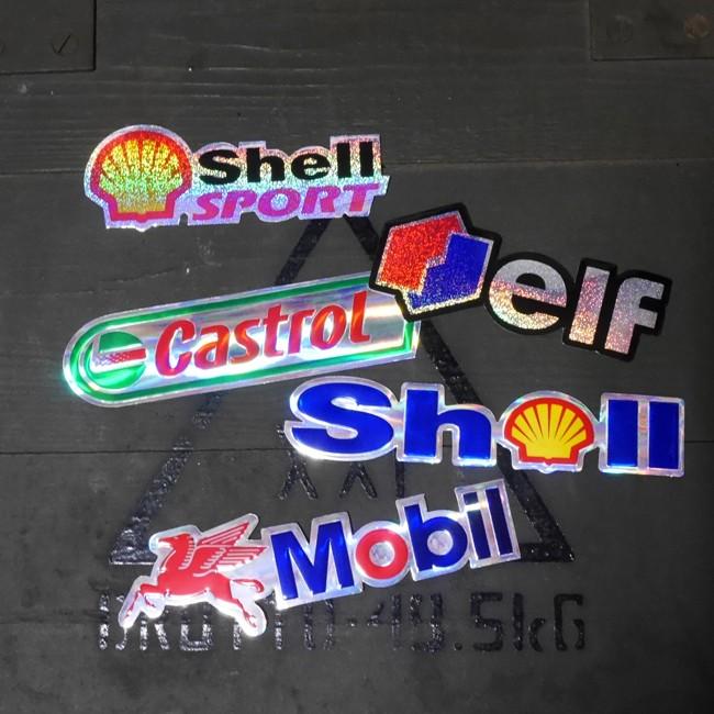 アメリカンオイルメーカー モーター系 キラキラ ステッカー シール アメリカン雑貨の画像
