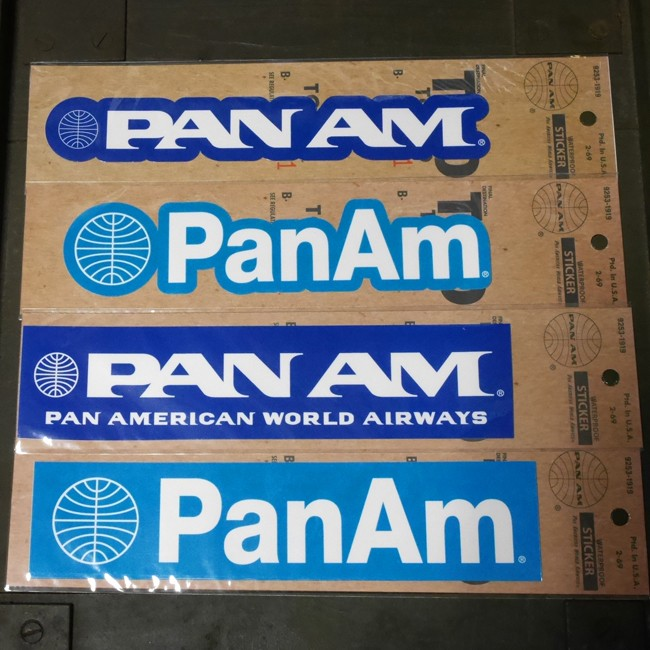 PANAM Sticker パンナム ステッカー シール パンアメリカン航空画像