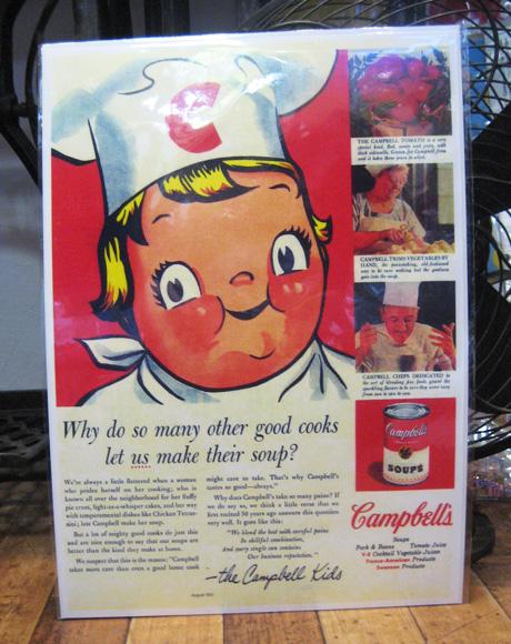 アメリカンポスター【キャンベル】アドバタイジングポスター アメリカン雑貨の画像