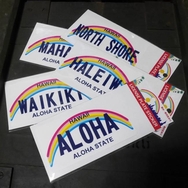 HAWAII STICKER ハワイ ステッカー シール  ライセンスプレートステッカーの画像