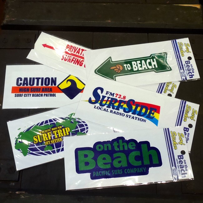 サーフィン ハワイ ステッカー シール  サーフステッカー on the Beachの画像