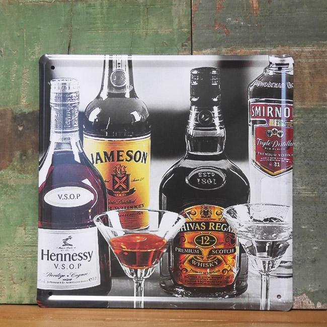 ウイスキーティン看板 お酒 洋酒 パブバーインテリア ブリキ看板の画像