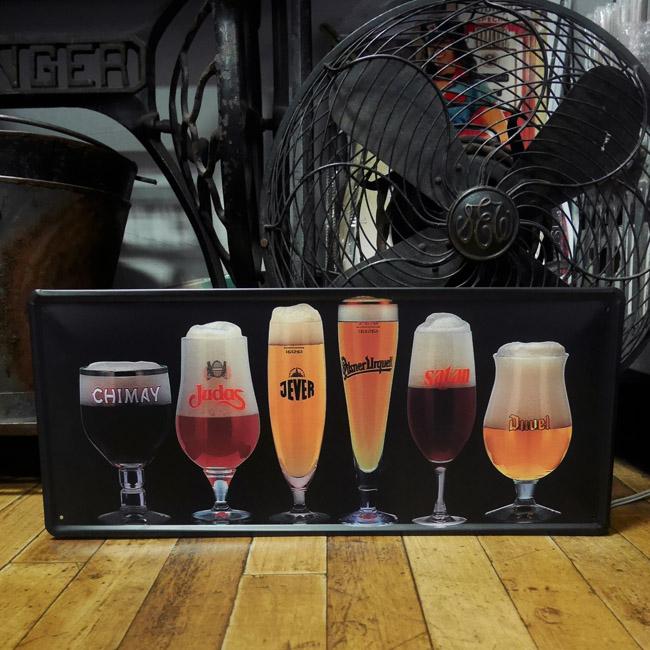ビールティン看板 デュベル イェヴァー 世界のビール ティンプレートインテリア ブリキ看板の画像