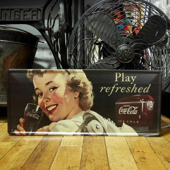 コカ・コーラ ブリキ看板 ティンサイン コークサイン看板 アメリカン雑貨の画像
