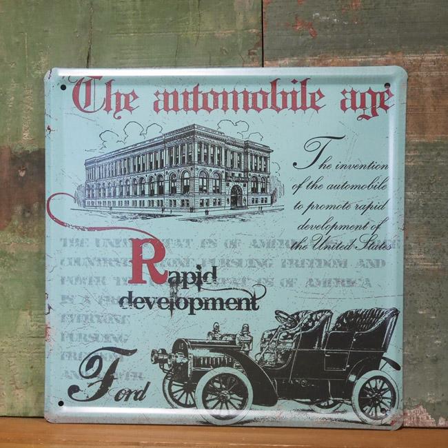 クラシックカー フォード看板 ブリキ看板 レトロインテリアの画像