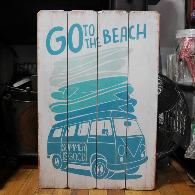 インテリアボード 【ビーチへGO】ウッドボード  アメリカンインテリア アメリカン雑貨の画像