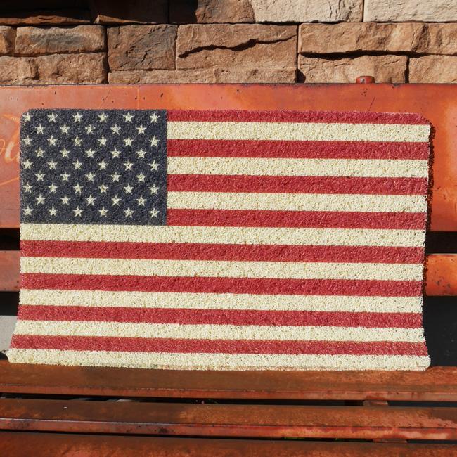 PVCエントランスマット USA星条旗 玄関マット コイルマット ガレージマット アメリカンインテリアの画像