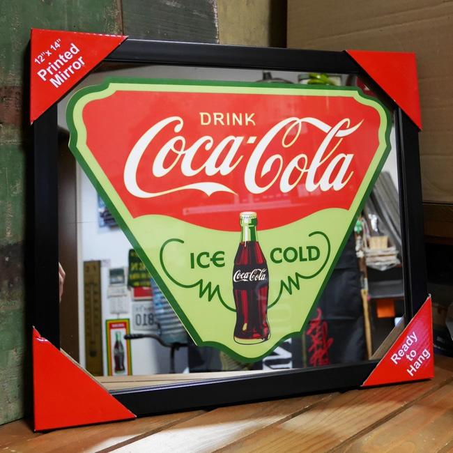 壁掛けミラー パブミラー【コカコーラ】アメリカン雑貨の画像
