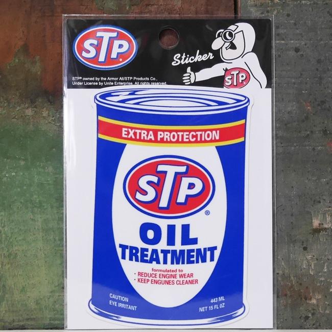 アメリカ企業物ステッカー STP OILステッカー シール アドバタイジングステッカー アメリカン雑貨の画像