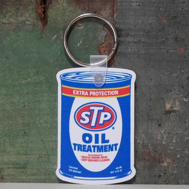 STP ラバーキーチェーン OILCAN アドバタイジングキーホルダー アメリカン雑貨の画像