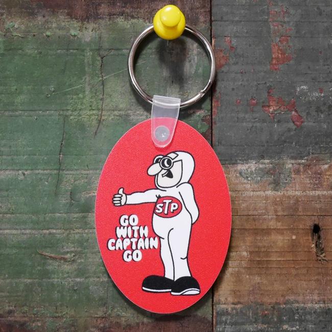 STP ラバーキーチェーン CAPTAIN RED アドバタイジングキーホルダー アメリカン雑貨画像