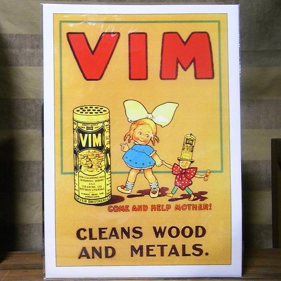 アメリカンポスター【VIM】レトロ広告ポスターの画像